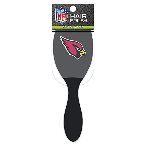Worthy Promotional NFL Arizona Cardinals Salon Style Hair Brush with Ball Tipped Bristles and Bonus Hair tie