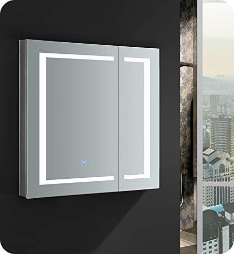 Fresca Spazio 30 inch Wide x 30 inch Tall Bathroom Medicine Cabinet -