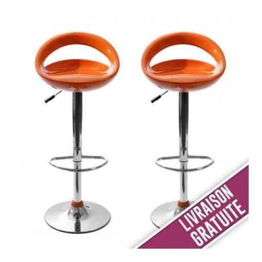 Taburete-de-bar-Snack-naranja-2-unidades