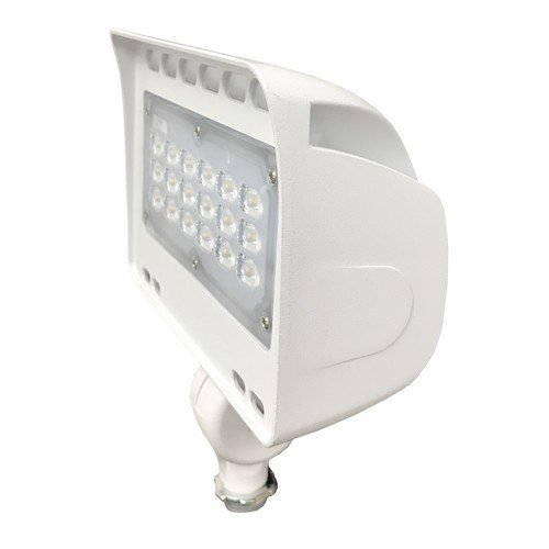 Morris 71340 LED ECO-Floodlight with 1/2'' Knuckle, 31W, 3000 K, 2275 lm, 120-277V, White