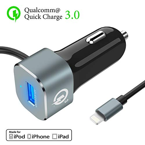 iPhone USB Car Charger, ALCLAP [MFi Certified] 5.4A/30W Fast Charge USB Car Charger Compatible iPhone Xs Max/XS/XR / 8/8 Plus / 7 / 6s / 6s Plus iPad Pro/Mini and More