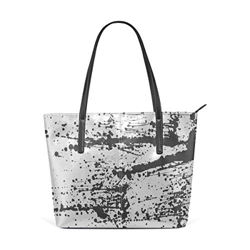 Laptop Tote Bag Abstract Art Hand-painted Of Brush Strokes On Paper Large Printed Shoulder Bags Handbag Pu Leather Top Handle Satchel Purse Lightweight Work Tote Bag For Women -