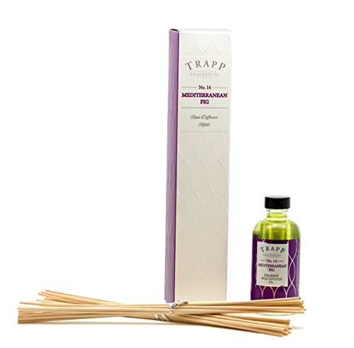 Trapp Candles Reed Diffuser Refill Kit, No. 14 Mediterranean Fig, 4-Ounce (Mediterranean Refill Fig)