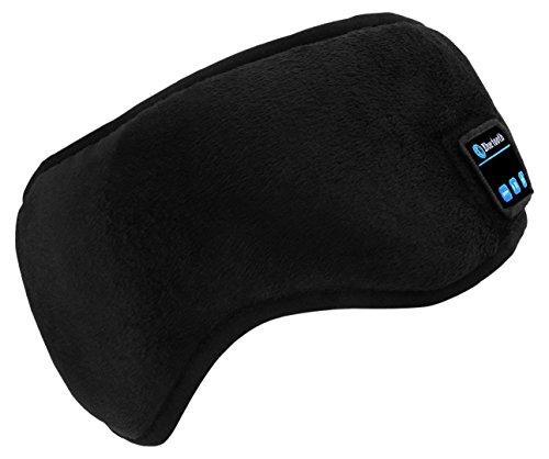 Sleep Mask Sleeping Eye Masks Bluetooth Headphones Wireless Eyes Pillow ASMR Music Headset Earphones Travel Handsfree for Smart Phones Tablets (Sleep Mask, Black 2)