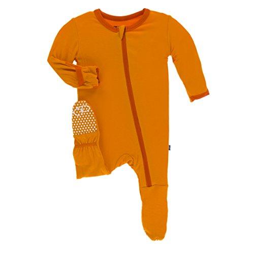 Solid Footed Sleeper Pajamas - 8