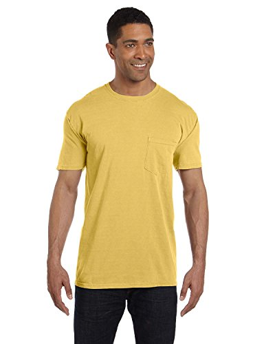 Comfort Colors Pigment Dyed Short Sleeve Shirt with a Pocket - Dyed Cotton Pocket Pigment