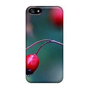 Rugged Skin Cases Covers For Iphone 5/5s- Eco-friendly Packaging(red Berry Close Up)