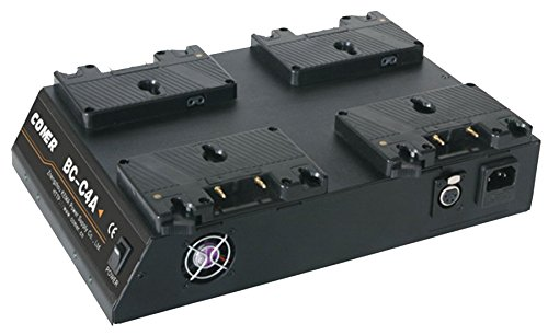 Quad 4-Channel Anton Bauer Gold Mount Battery Kit Charger with 16.8V Power Supply Output