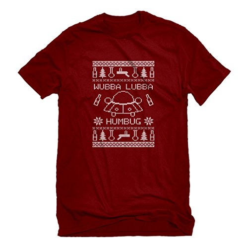 6 Oz No Iron (Indica Plateau Mens Wubba Lubba Humbug Large Red T-Shirt)