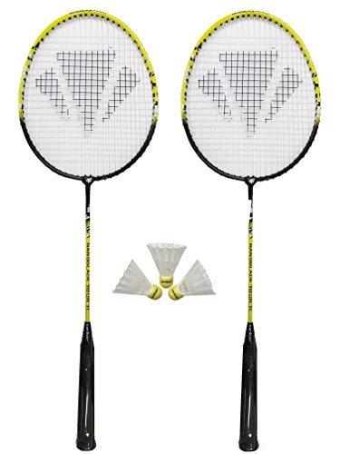 2 x Carlton NanoBlade Badminton Rackets + 3 Shuttles