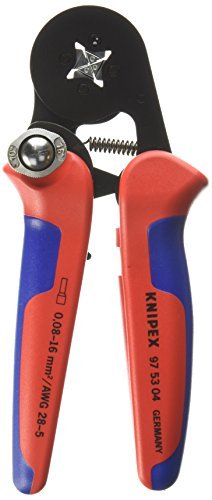 Knipex 97 53 04 Sb Terminal Socket Tong with Automatic Adjustment Crimpaggio Side Plastic Coated 180 mm Burnished by Knipex 53 Sb