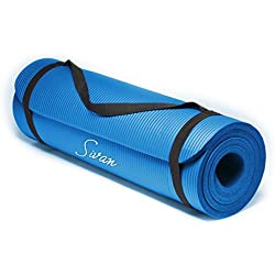 Sivan Health and Fitness NBR Yoga and Pilates Mat (Blue)