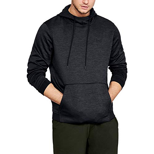 Under Armour Men's Armour Fleece Twist Pull Over Hoodie, Black (001)/Black, XX-Large