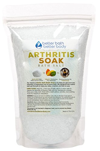 Arthritis Bath Salt - Pure Epsom Salt With Frankincense Essential Oils & Vitamin C Crystals - Get Arthritis Relief With This Natural Bath Soak