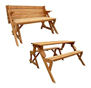 Amazon Com Leisure Season Folding Picnic Table And Bench