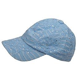Crystal Sequin Trim Adjustable Baseball Cap