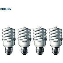 Philips 433557 100-watt Equivalent, Bright White (6500K) 23 Watt Spiral CFL Light Bulb, 4-Pack