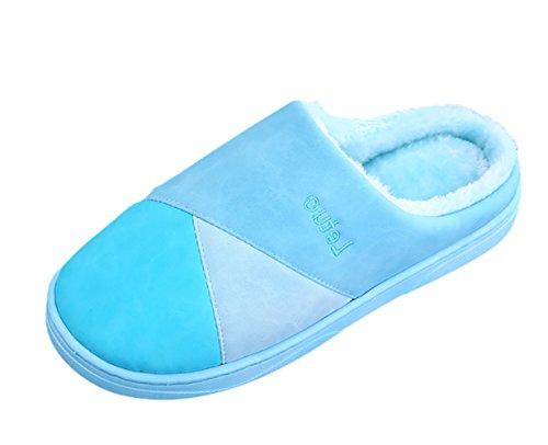 Maison Pantoufles Chaussons Studio Intérieur Ciel Doux Sk Bleu Hiver Slippers Unisexe Chaud Chaussures qnzRRYp