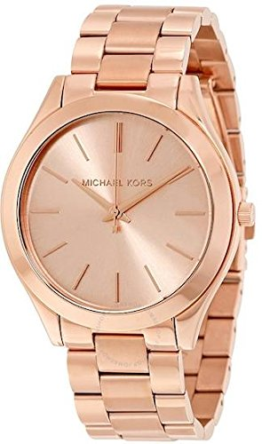 Michael Kors Watches Slim Runway Watch (Rose Gold)