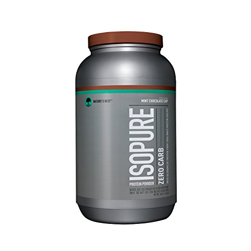Isopure Zero Carb Protein Powder, 100% Whey Protein Isolate, Flavor: Mint Chocolate Chip, 3 Pounds (Packaging May Vary)
