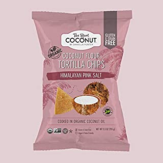 product image for The Real Coconut, Himalayan Pink Salt, Gluten Free Coconut Flour Tortilla Chips, 5.5 ounce, 12-Pack