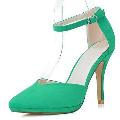RTRY La Mujer Tacones Zapatos Formales Polipiel Vestidos Primavera Verano Stiletto Talón Almendra Verde Azul Fucsia Ruby 4A-4 3/4 Pulg. US9.5-10 / EU41 / UK7.5-8 / CN42