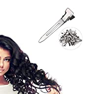 Ekan Salon Metal Hairdressing Sectioning Dividing Duck Bill Clips For Hairstyling, 60 Pcs, Silver, 35 Grams, Pack Of 1