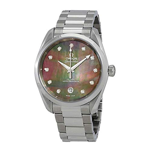 Omega Seamaster Aqua Terra Automatic Chronometer Diamond Ladies Watch 220.10.38.20.57.001