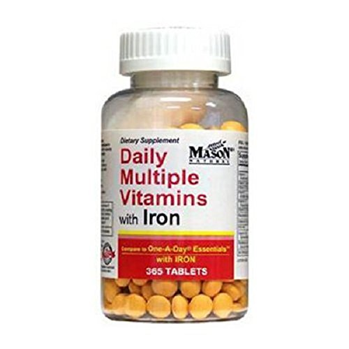 Daily Multiple Vitamins With Iron Tablets - 365 Ea