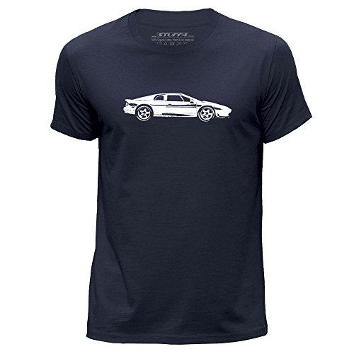 STUFF4 Uomo/Grande (L)/Blu Navy/Girocollo T-Shirt/Stampino Auto Arte / Esprit S4