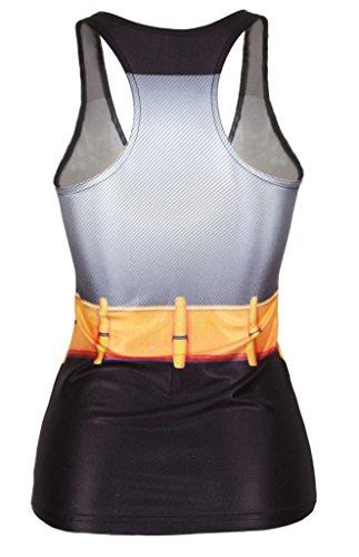 Aimadi Womens Girls Batman Digital Printed Sleeveless T-Shirt Vest Tank Tops