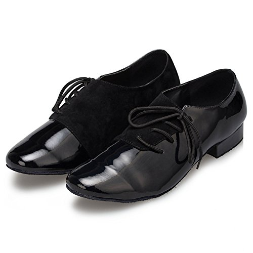 Pleather Latin Minitoo up Men's Taogo Shoes Black Lace Dance Wedding TH149 Ballroom STF0FxnI