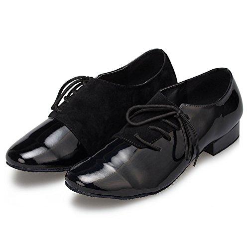 Taogo Mariage Chaussures Bal Hommes De Th149 Noir Danse Salle Latine Plaine En Satin Lacets Minitoo qxqPwp0SU