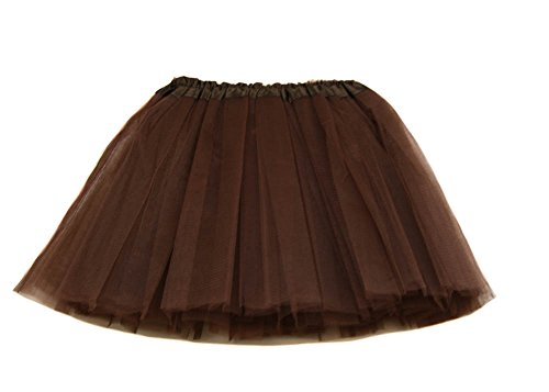 Adult Basic Tulle Tutu Available in 3 Sizes Chocolate (Brown) S-M (Chocolate Tutu)
