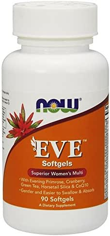 Now Supplements, Eve Women's Multivitamin with Cranberry, Alpha Lipoic Acid and CoQ10, Plus Superfruits - Pomegranate, Acai & Mangosteen, Iron-Free, 90 Softgels