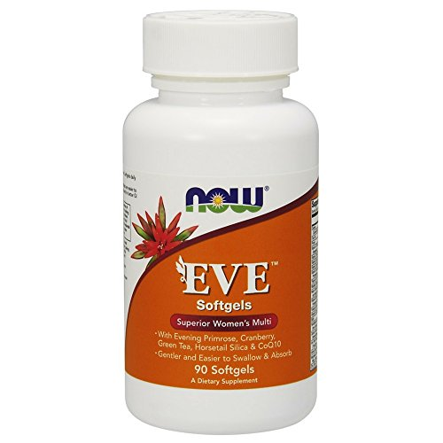 - Now Supplements, EveTM Women's Multivitamin with Cranberry, Alpha Lipoic Acid and CoQ10, Plus Superfruits - Pomegranate, Acai & Mangosteen, Iron-Free, 90 Softgels