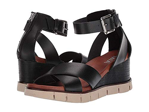 - MIA Womens Lauri Casual Sandals Shoes Black 10