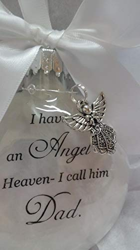 Father Memorial Christmas Ornament Sympathy Gift - Angel in Heaven I Call Him Dad