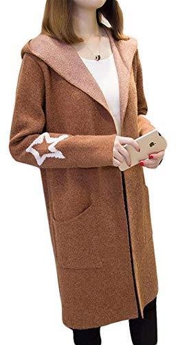 BeiBang(バイバン) ロング カーディガン ゆったり フード付 ニットカーディガン 秋 冬 レディース あったか ロングコート おしゃれ 可愛い