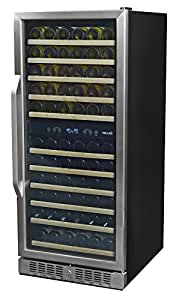 NewAir AWR-1160DB Premier Gold Series 116 Bottle Built-In WIne Cooler, StaInless Steel/Black