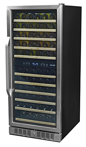 NewAir AWR-1160DB Premier Gold Series 116 Bottle Built-In Wine Cooler, Stainless...