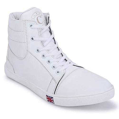 Buy CORALHAWK Men's White Sneakers