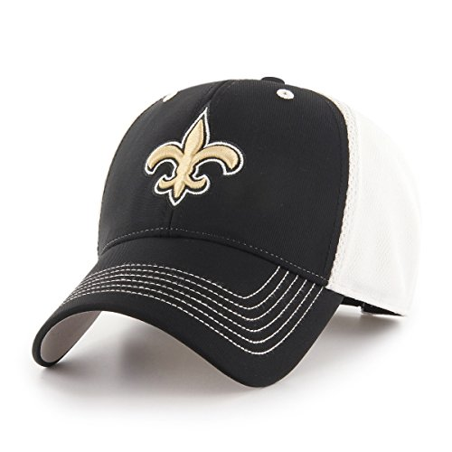 NFL New Orleans Saints Sling OTS All-Star MVP Adjustable Hat, Black, One Size