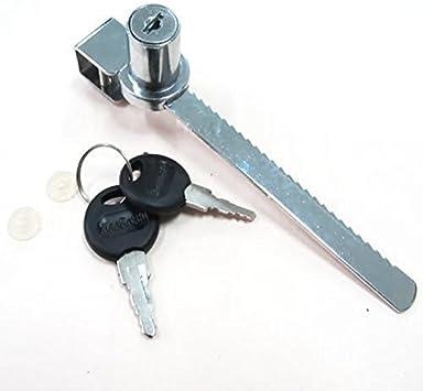 efbock Cerradura de Puerta corredera de Vidrio con trinquete estándar de Venta al por Menor Chrome Tamper Proof 2set: Amazon.es: Hogar