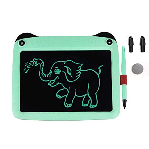 mom&myaboys 9 inch Electronic Drawing Pads for Kids, Portable Reusable Erasable Writer, Elder Message Board,4-8 Years Old Boys for Digital Handwriting Pad Doodle Board for School(Green)