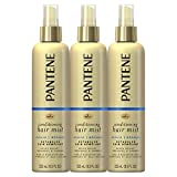 Pantene, Conditioning Mist Detangler, Nutrient Boost, Pro-V Repair and Protect for Damaged Hair, 8.5 Fl Oz, Pack of 3