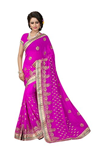 Indian Sarees for Women Wedding Designer Party Wear Traditional Rani Saree. by The Stylam