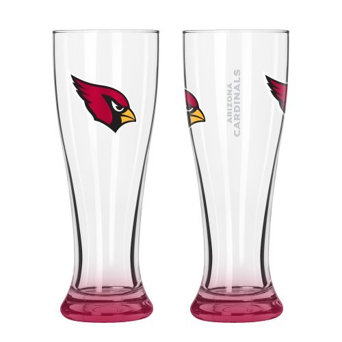 eries Pilsner Glasses - 16 ounce Hourglass Pints, Set of 2 (Cardinals) ()