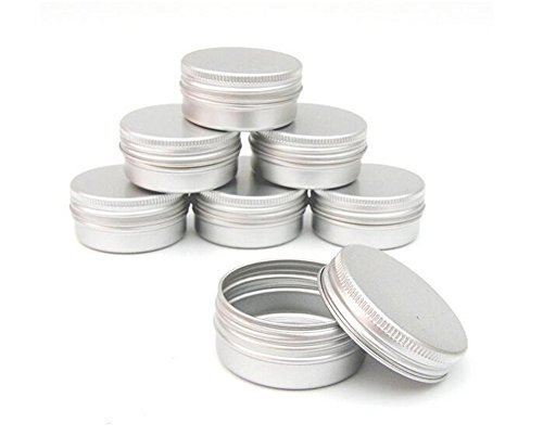 12Pcs 60g/2oz Jar Cosmetic Sample Aluminum Tins Empty Slip Slide Round Containers With Tight Sealed Twist Screwtop Cover Small Ounce for Lip Balm Make Up Eye Shadow Powder(Silver) ()