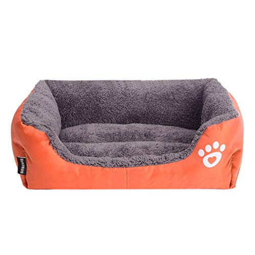 The fairy Winter Warm Dog Bed Sofa Waterproof Fleece Cat Bed Mat Lounger Sofa Cushion Pet Bed Kennel Pet Products,Orange,95X75X18Cm